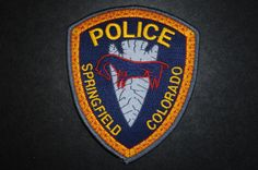 Springfield Police Patch, Baca County, Colorado