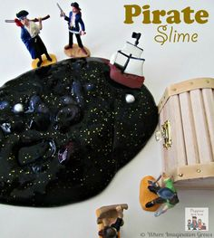 Pirate Slime Sensory Play for Kids - Where Imagination Grows