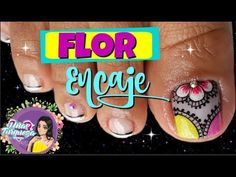 Diseño de pies flor y encaje FACIL ♥ - YouTube Love Nails, Youtube, Work Nails, Easy Nail Art, Youtubers, Youtube Movies