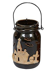 Black Halloween Jar Lantern