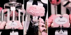 Pink Black & White Guest Dessert Feature | Amy Atlas Events