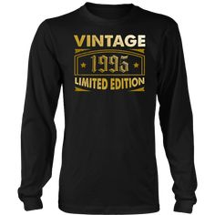 Men's Vintage 1995 23 Year Old Birthday Gift Long Sleeve T-Shirt