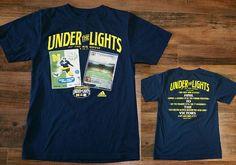 Michigan Wolverines Notre Dame Fightin Irish Under the Lights Football T-Shirt S #adidas #MichiganWolverines