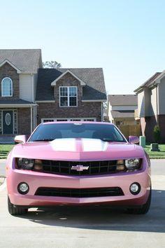Ok, not a corvette, but still really cool -pink camaro.