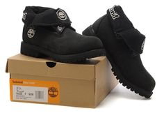 Timberland Authentic Roll Top Boots Black For Men,Fashion Winter Timberland Shoes