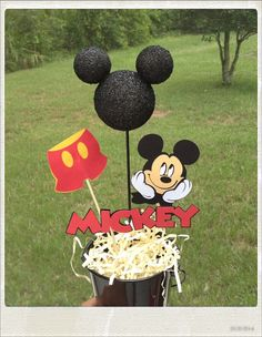 Mickey Mouse Birthday Centerpiece by eryacah on Etsy, $10.00