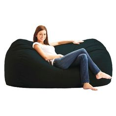 ab260db6581a Media Lounger Bean Bag Chair -6 - Black - Big Joe
