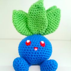 LWC Crochet Pokemon Inspired Oddish Plush by LittleWishCafe on Etsy