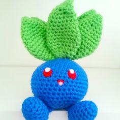 LWC Crochet Pokemon Inspired Oddish Plush by LittleWishCafe on Etsy