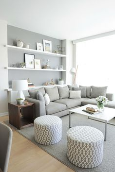 Home Decorating Style 2016 for Living Room Decor Modern 21 Modern Living Room Decorating Ideas, you can see Living Room Decor Modern 21 Modern Living Room Decorating Ideas and more pictures for Home Interior Designing 2016 6824 at Home Design. Living Room Grey, Small Living Rooms, Living Room Modern, Home Living Room, Living Area, Tiny Living, Small Living Room Designs, Living Spaces, Clean Living