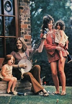 John Paul Jones and his lovely family (wife Mo & two of their three daughters)