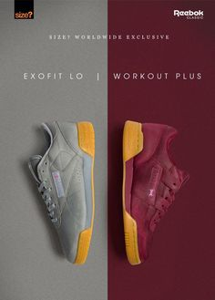 product poster advertising campaign Size Exclusive: Reebok Exofit Lo / Workout Plus Shoe Advertising, Fashion Advertising, Creative Advertising, Advertising Design, Advertising Campaign, Product Advertising, Advertising Quotes, Advertising Ideas, Advertising Poster