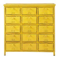 Commode cabinet indus  jaune - Edison - 269€ chez Maisons du Monde