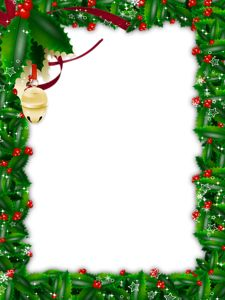 Transparent_Christmas_Green_Photo_Frame.png