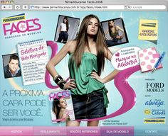 This project was created to give media information and to candidates registration for the model's competition Pernambucanas Faces.