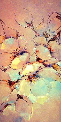 Abstract Flowers, Watercolor Flowers, Watercolor Paintings, Pour Painting, Painting & Drawing, Floral Artwork, Acrylic Art, Flower Art, Cool Art