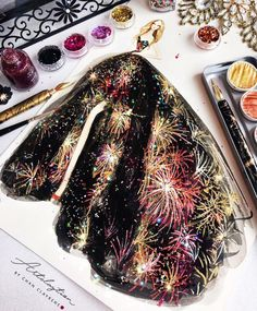 Artclaytion X @fashionzuhairmurad| Couture is Sparking #Fireworks| #Nail #Polish on paper by @artclaytion| Be Inspirational ❥|Mz. Manerz: Being well dressed is a beautiful form of confidence, happiness & politeness
