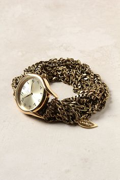 Pretty face and distinctive bracelet for a watch. Geneva Round Watch from Anthropologie $198