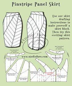 #DrapeSkirtPatterns #PatternMaking http://www.studiofaro.com/book-industry-workshops-advanced PinstripePanelSkirt http://www.studiofaro.com/well-suited/first-sample-pinstripe-panel-skirt #Sydney