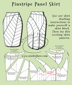 #DrapeSkirtPatterns #PatternMaking http://www.studiofaro.com/book-industry-workshops-advanced PinstripePanelSkirt http://www.studiofaro.com/well-suited/first-sample-pinstripe-panel-skirt #Sydney