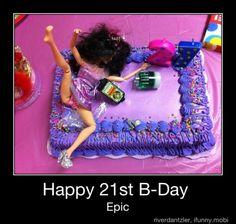 Im soooo makin one like this for Kristen's birthday! This is freaking hilarious! 21st Birthday, Birthday Parties, Birthday Cake, Birthday Ideas, The Perfect Daughter, Barbie Cake, Happy B Day, Cupcake Cookies, Cupcakes