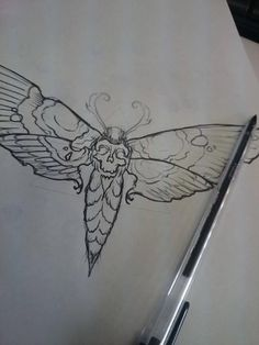 death moth, tattoo design, leigh soulink ------------ This instead of the butterfly Half Sleeve Tribal Tattoos, Tribal Tattoos For Women, Moth Tattoo Design, Tattoo Designs, Tattoos Skull, Cool Tattoos, Tatoos, Occult Tattoo, Butterfly