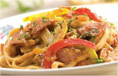 Crispy bacon, spicy Italian sausage, salami, onions and assorted peppers, sautéed and combined in a creamy tomato-based sauce. Italian Market, Weekly Specials, Onions, Masters, Healthy Life, Sausage, Spicy, Bacon, Forget