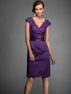 Wedding Dresses, Bridesmaid Dresses, Prom Dresses and Bridal Dresses Jasmine Black Label Mothers Dresses - Style - Jasmine Black Label Mothers Dresses, Fall Lace/Marquis Satin V-neck knee length gown shown in Mulberry. Mob Dresses, Tea Length Dresses, Bridal Dresses, Bridesmaid Dresses, Formal Dresses, Party Dresses, Dresses 2016, Formal Prom, Fashion Dresses
