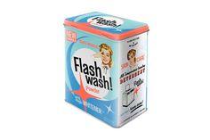 """Caja jabón lavadora """"Flash Wash"""" – Zap+Zap – Decoración – Regalo – Antigüedades. Salamanca."""
