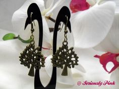 Tree shaped antique gold earrings...$1.00 at Seriously Pink