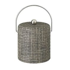 Kraftware Woven 3 Qt. Ice Bucket with Dome Fabric Lid Color:
