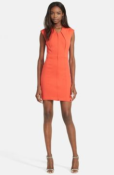 Tracy Reese Front Zip Stretch Sheath Dress available at #Nordstrom