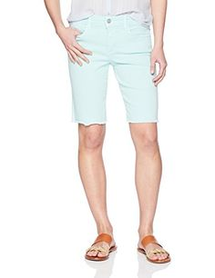 NYDJ Womens Petite Briella Short with Fray Hem Pale Cabana >>> Click image for more details. (This is an affiliate link) Spring Shorts, Cabana, Bermuda Shorts, Leggings, Women's Shorts, Clothes For Women, Link, Image, Fashion