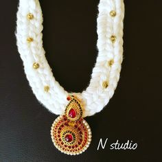 Silkthread crochet necklace #silkthreadqatar #silkthreadjewellery #