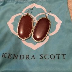 Kendra Scott earrings Burnt orange sparkly Danielle earrings Kendra Scott Jewelry Earrings