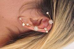 Ear Cuff com Strass