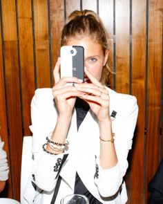 Repin to win: Constance Jablonski and her HTC One by Cushnie et Ochs