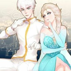 Queen Elsa and Prince Frost