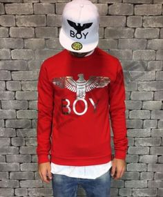 Collezioni curate da jackdanielshopping @eBay Boy London, Graphic Sweatshirt, Street Style, Sweatshirts, Red, Sweaters, Ebay, Shopping, Fashion