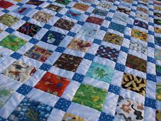 Disappearing Nine-Patch I-Spy Quilt by obsessivelystitching - StitchWhipped, via Flickr