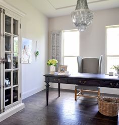 Home Office – Updated With a Beautiful Chandelier