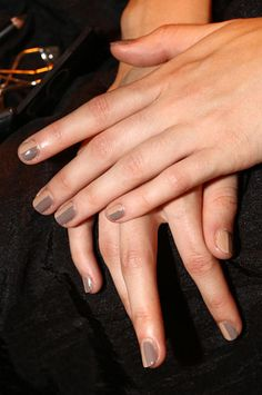 The Best Beauty Looks from NYFW SPRING 2013 — 3.1 Phillip Lim: The concept of laying clothes applies to nail art as well this season.