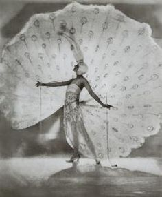 Dolores as The White Peacock in Ziegfeld Midnight Frolic.  Remnants of this delicate piece still exist in the Museum of the City of New York's costume collection.
