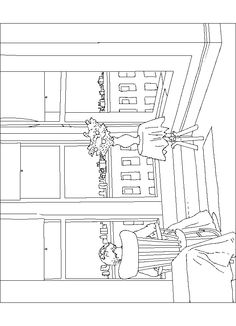 Coloring page Edward Hopper Kleurplaat