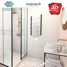 """Новинка в нашем салоне PLITKA-TUT.BY 3D ДИЗАЙН-ПРОЕКТ с использованием коллекции """"Synergy""""от Paradyz. Минималистичные узоры, прекрасно подобранные цвета, современная фактура и выразительный дизайн помогут Вам создать стильное пространство. Туалетная Бумага, Ванная"""