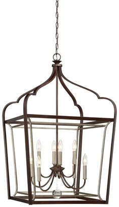 Minka Lavery Astrapia Pendant in Dark Rubbed Sienna - French Country Ceiling Lights - French Country Lighting and Home Decor - by Style Foyer Pendant Lighting, Lantern Chandelier, Candelabra Bulbs, Lantern Pendant, Ceiling Pendant, Ceiling Lights, Light Pendant, Kitchen Lighting, Country Chandelier