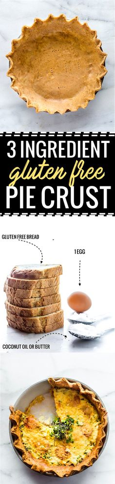 This 3ingredient gluten free pie crust recipe is easy to make and dairy free. A multipurpose gluten free pie crust with healthy ingredients to make dough.
