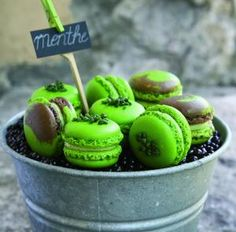 Mint Chocolate Macaroons