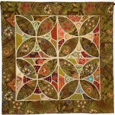 """Tile Quilt Revival  """"Orange Peel"""" block by co-author Bobbie Finley.  more on her blog, including class samples from her students"""