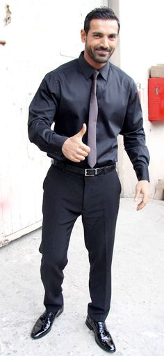 John Abraham spotted at Mehboob Studio. #Bollywood #Fashion #Style #Handsome